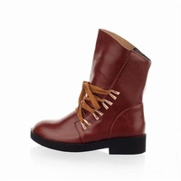 Женские оксфорды modern hot sell good pu leather lace-up women Martin boots shoes ladies' casual Oxfords shoes 2 color