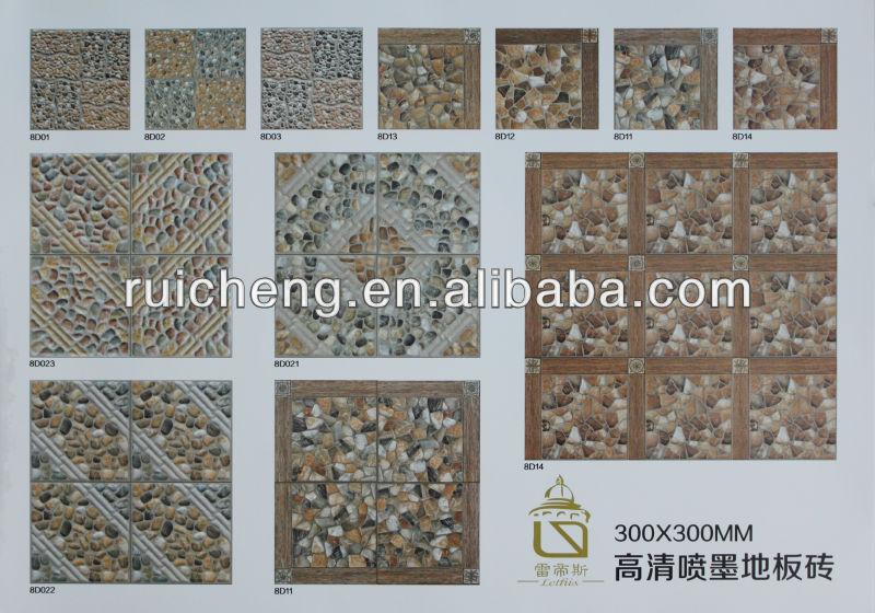 3d digital lapis tiles design for garden floor tile 300 - Garden floor tiles design ...
