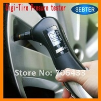Freeshipping  Digital Tyre gauge +LCD,Tire Pressure meter,Tester +9 in 1  Emergency Tool +Torch,cutter breaker, screwdriver.