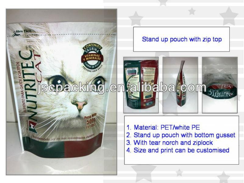 500gram Zip Lock Stand Up Pouch Plastic bag With Aluminum Foil