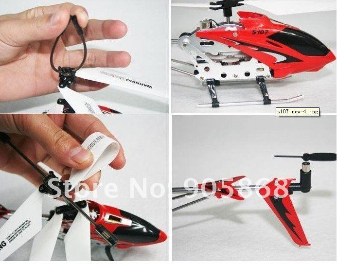 CV- SYMA S107G RTF S107 RTF 3CH Rc Helicopter mini metal Heli,With GYRO & usb & Aluminum Fuselage English package