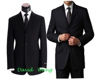 Мужской костюм 2012 new Men's suits men's professional business suit three-button material: wool color : black