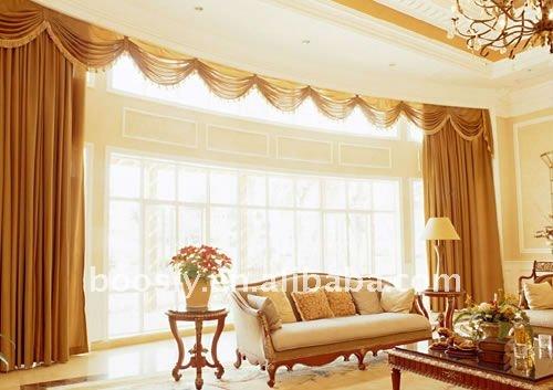 motorized draperies with furnishing fabric