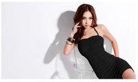 2012spring summer new Sexy corset dress black#607942