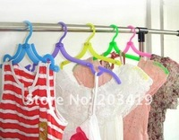 Wholesale retail Colorful Clothes Drying Rack Flexible Travel camping Hanger Space Saving Coat