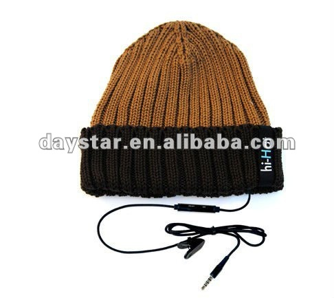2012 new design fashional cotton winter hats with headphone