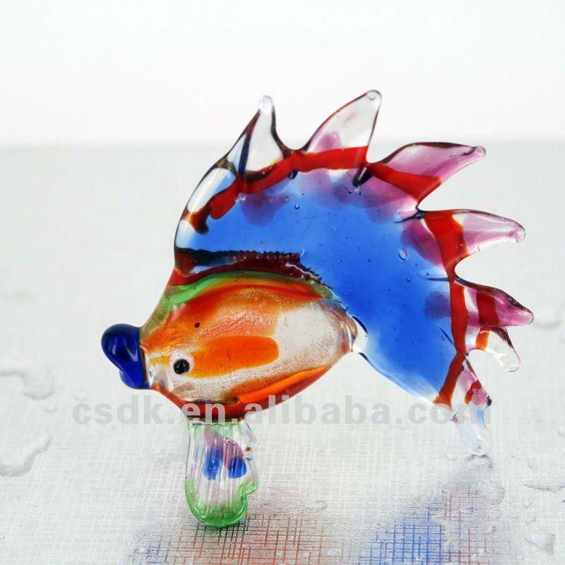 Glass Fish Figurines Glass Animal Figurine