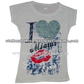 Ladies fashion t-shirt with Heat transfer printe.jpg