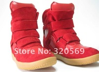 Женские кеды EMS Red Women's Isabel Marant Shoes Sport Shoes Cowhide Sneaker Casual Height Increase Shoes 35-41