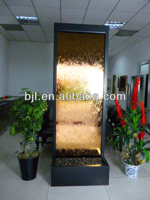 glass waterfall middle east room divider for hilton hotel