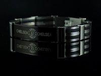 Christmas gift b399 Chelsea Stainless Steel Rubber Mens Bracelet