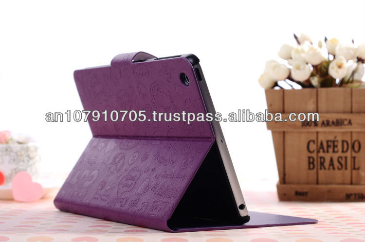 Stylish Newest High Quality Leather Case with Credit Card Slots for iPad mini
