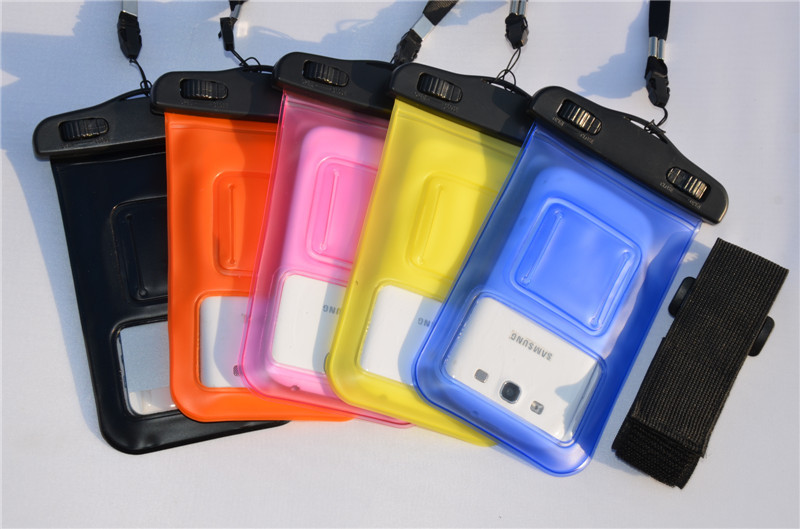 With Secure Snaps and Armband Universal Waterproof Pouch for iPhone and Other Smart Phones