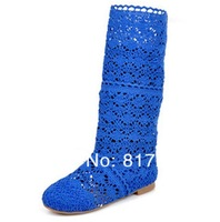 Женские ботинки China Manufacturing CPAM 2015 Spring summer fashionable woman crochet boots