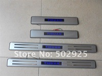 Volkswagen Tiguan Stainless Steel Scuff Plate / door sill/ threshold with blue LED light wholesale/ retail EMS DHL UPS CPAM