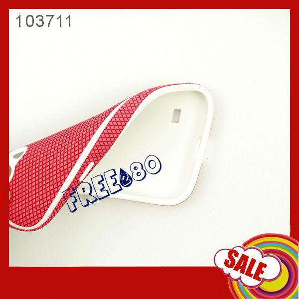 Plaid Pattern Soft Silicone Case for Samsung S4 mini i9190
