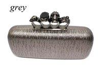 Free Shipping!! Metallic Skull Bag Fashion Women's Clutch Handbag
