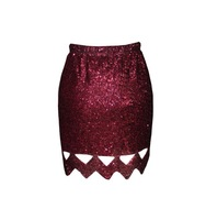 Женская юбка 2013 fashion sexy hollow-out sequin skirt
