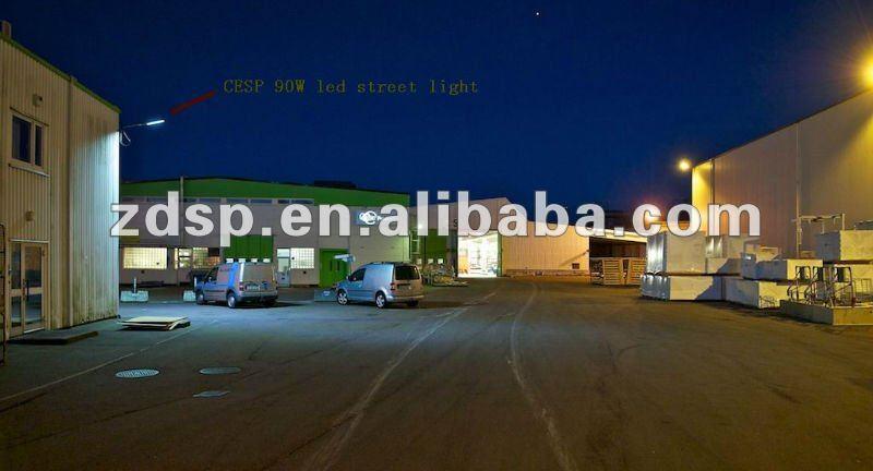 90W LED street light VS 250W HPS install in Sweden