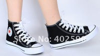 Free shipping Hot selling #E14574 high side Lovers' canvas shoes fashion leisure shoes(35-43)