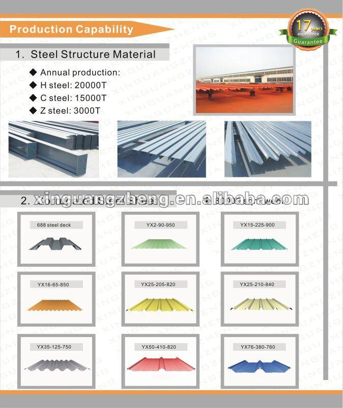 design manufacture steel structures for workshop warehouse