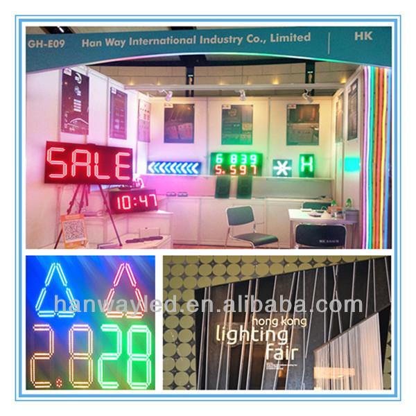 시간 온도 기호/led 주유소 디스플레이/대형 야외 디지털 시계 온도 LED