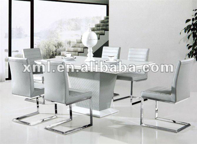 Marco de madera tapa de cristal templado mesas comedor y sillas ...