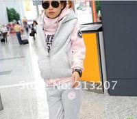 Женские толстовки и Кофты Shopping 2012 Korean ladies ' winter suit casual long pants vest sports suit sweater set of three thick