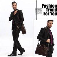 Сумка через плечо 100% Original High quality Leather men designer handbags bags, leather men bags+ & Brown