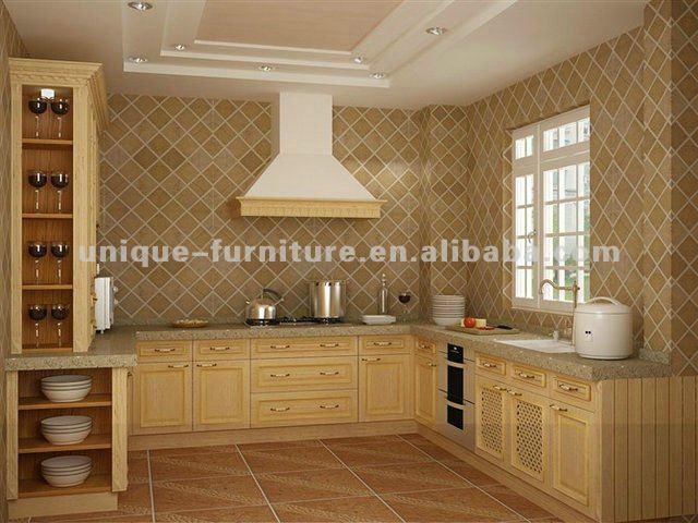 Meuble cuisine en bois rouge images - Meuble de cuisine en bois rouge ...