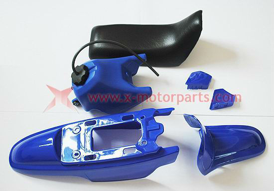50PY PW50 PY50 PW 50 PLASTIC SEAT GAS TANK KIT BLUE