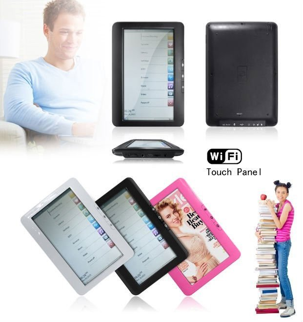 """Private model 7"""" ebook with WIFI and touch screen"""