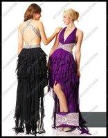 Cross Back Ruffled Chiffon 2012 Prom Dress ALICIA