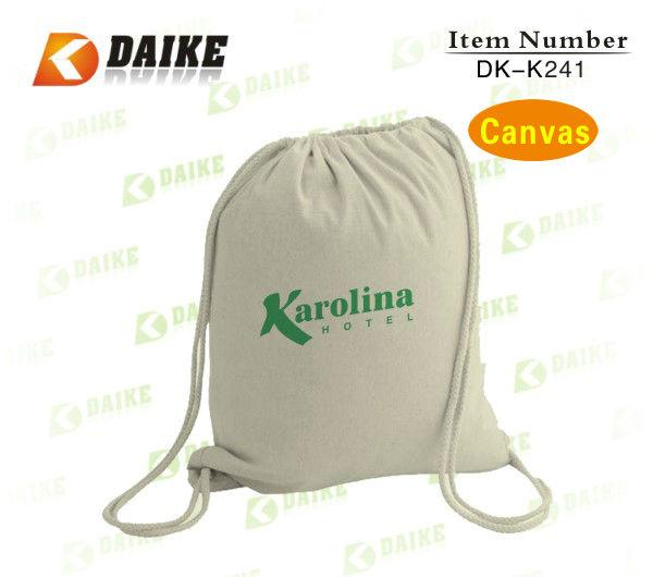 Canvas Top Sale Promotional waterproof drawstring backpack DK-K241