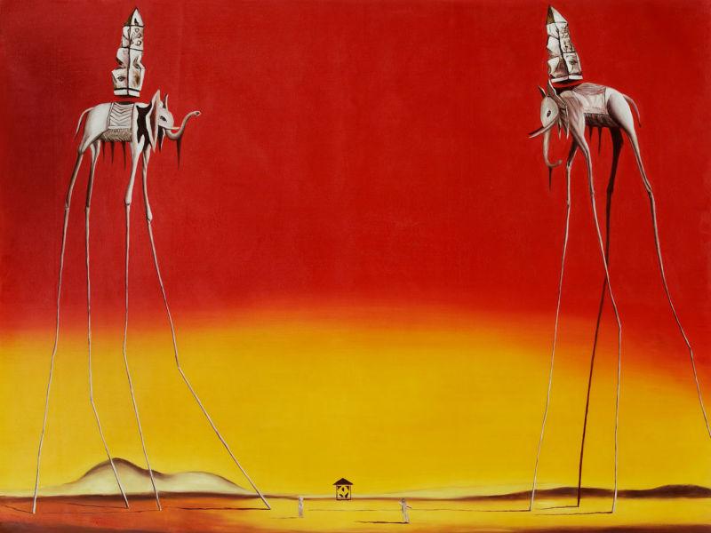 Cygnes reflétant des éléphants Reproduction célèbre Dali ...