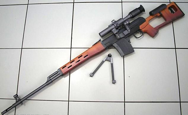 Подлинный Масштаб 1:1 3D Бумаги модели DIY Драгунова СВД Снайперская Винтовка оружие собраны высокая моделирования Пистолет Оруж