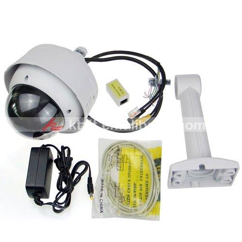 Waterproof Wired H.264 SONY CCD IP CCTV Camera w/ 10x Optical Zoom/ Pan/Tilt Motors