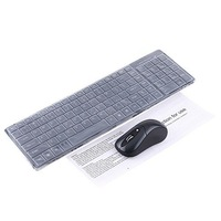 Клавиатура + Мышка 2.4GHz Wireless Keyboard + Silicon Skin + Mouse + USB Dongle Kit -Black
