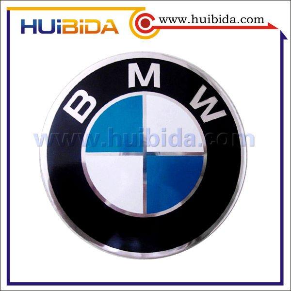 Fancy embossed car emblems, magnet car sticker