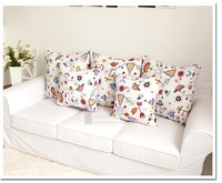 Подушка Flower Decorative Pattern Throw Pillow Cases Cushion Covers Canvas Sofa Flower White Color # ZT01003 Size S