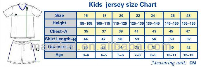 nike youth jersey size chart