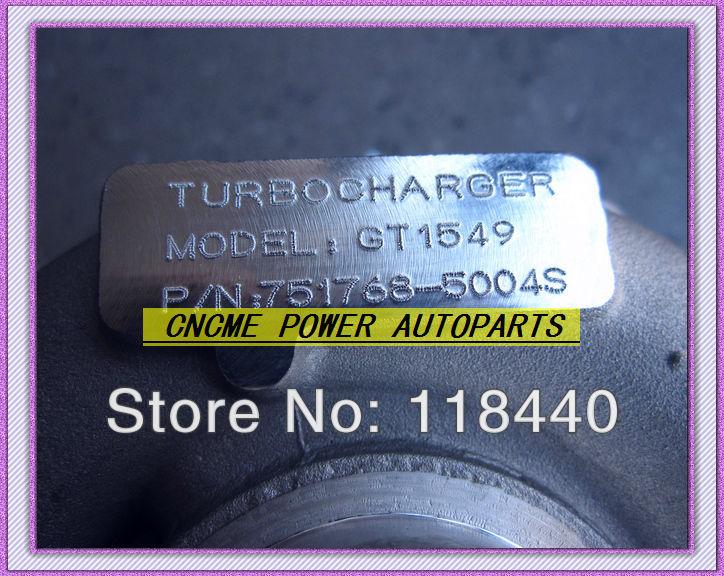 TURBO GT1549 751768-5004S 703245-0001 Renault Laguna Megane SCENIC TRAFIC 1.9L Volvo S40 V40 105HP F9Q (8)