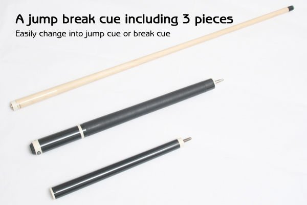 New Billiard Jump Break Cue Stick With Solid Crystal Tip,D8