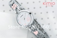 Наручные часы DHL 50pcs/lot KIMIO ladies luxury citizen designer bracelet watch with Lucky clovers pattern dial K446L