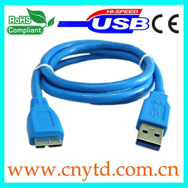 Blue color high speed usb 2.0 cable/usb 3.0 cable