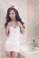 Женский эротический костюм hot sale, sexy costume, sex nurse clothing, cap+dress +stockings+t-pants, sex lingerie, white