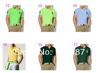 Мужская футболка Big Pony Brand New 100% Cotton Men's Short Sleeve Polo T-shirt Shirts &retail