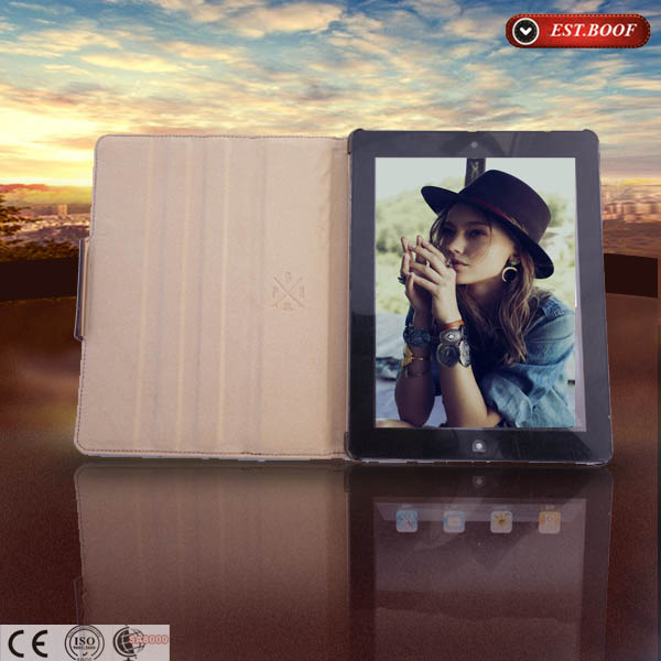 Fashionable Design Stand Tablet Cover Case For Ipad Air, Leather Case For Ipad5