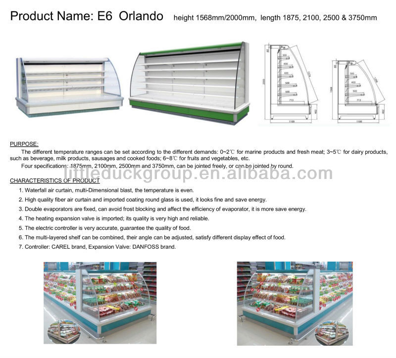 Ladder Shelf Upright refrigeration showcase for Supermarket-ORLANDO