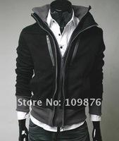 Factory Outlet Casual trend styling Men's Slim Sexy Hoody Jacket South Korea sweatshirt High collar coat men's jackets